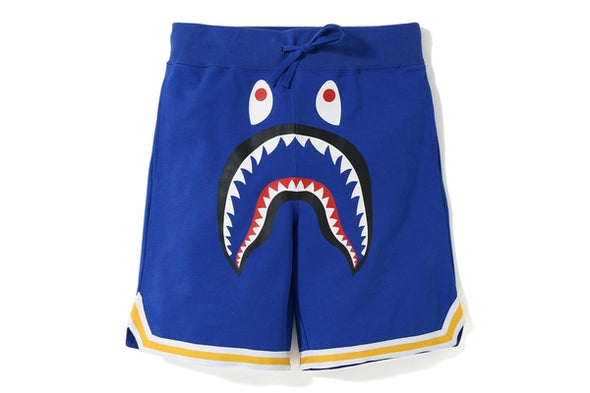 Bape Basketball Sweat Shark Shorts (Navy)