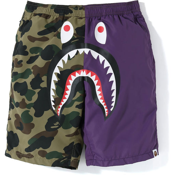 Bape 1st Camo Shark Beach Shorts (Purple)