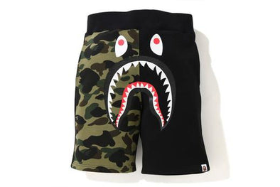 BAPE 1st Camo Shark Half Sweat Shorts (Green)