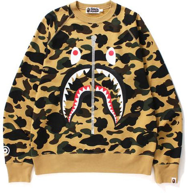 Bape 1st Camo Shark Crewneck (Yellow)