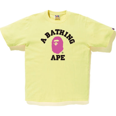 Bape Colors College Tee (Yellow)