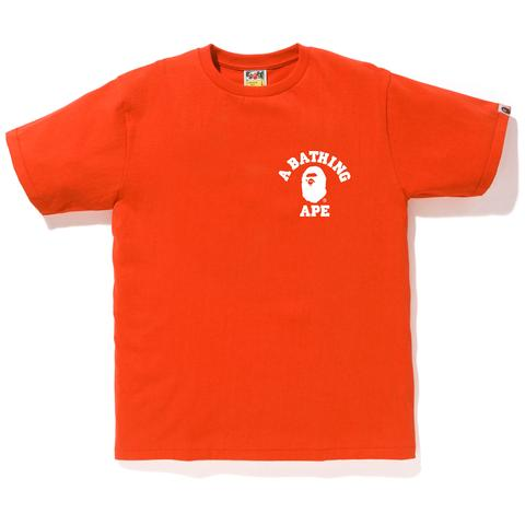 Bape Bicolor Collegee Ats Tee (Orange)