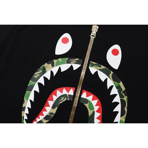 Bape ABC Camo Shark Tee (Black/Green)
