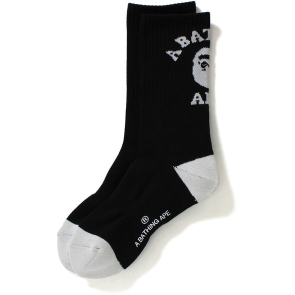 Bape College Socks (Black/Grey/White)