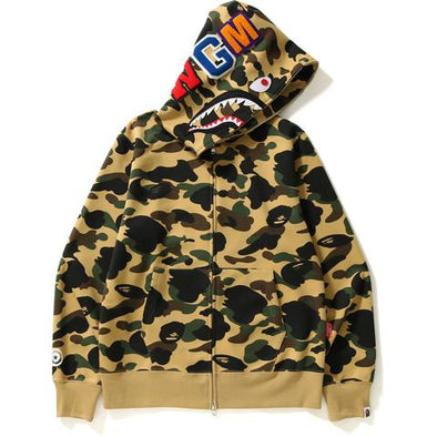 Bape 1st Camo Gore Windstopper Shark Full Zip Hoodie (Yellow)