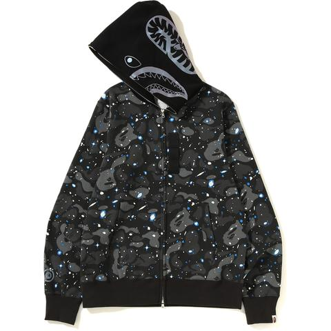 Bape Space Camo Shark Full Zip Hoodie (Black)