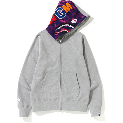 Bape Shark Full Zip Hoodie (Grey/Purple)