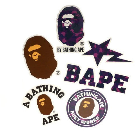 A Bathing Ape Sticker Set (Purple)
