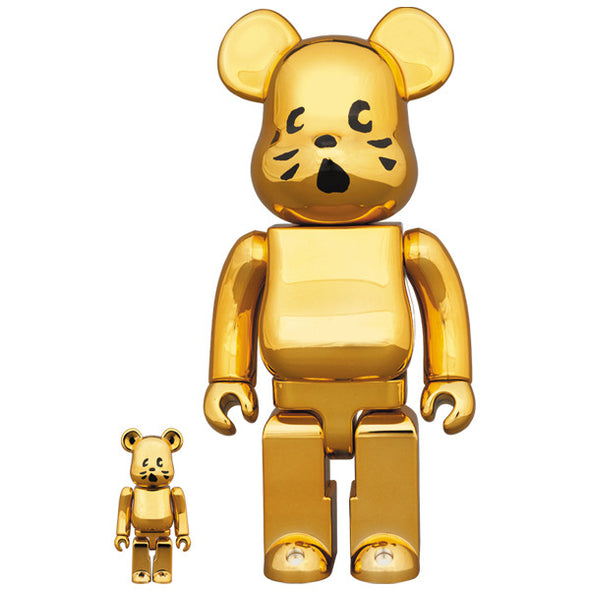 BE@RBRICK Nya Gold Plated Ver. 100% & 400%