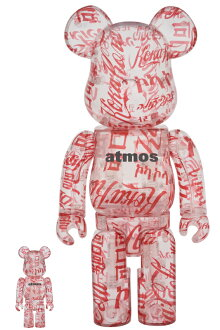 BE@RBRICK atmos × Coca-Cola 100% & 400% CLEAR BODY