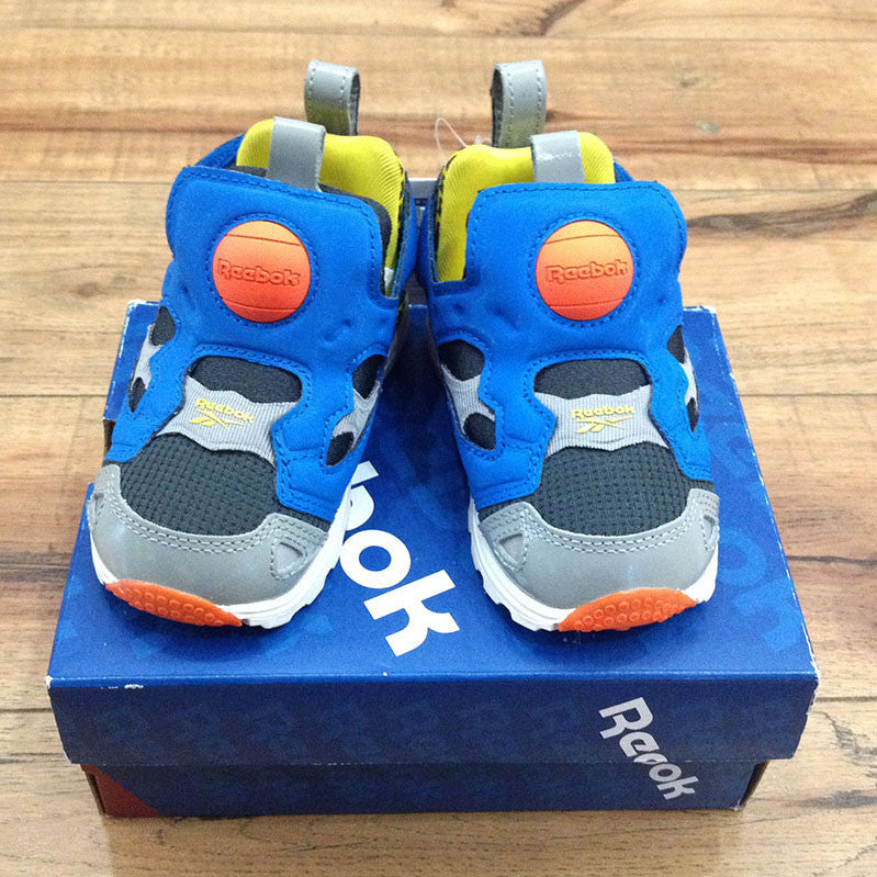 Reebok kids' pump (Orange, Blue & Grey)