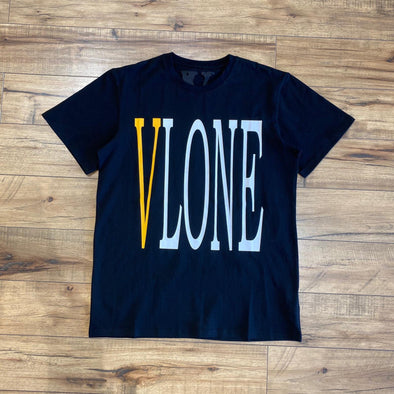 Vlone Front Logo Tee (Black/Yellow)
