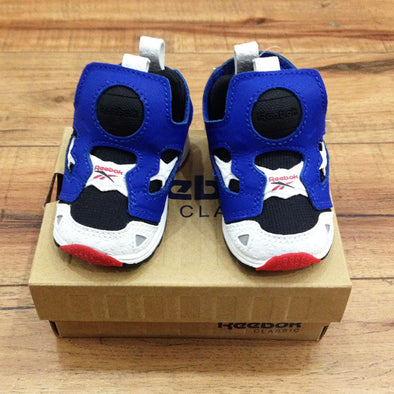 Reebok kids' pump (Blue, White & Black)
