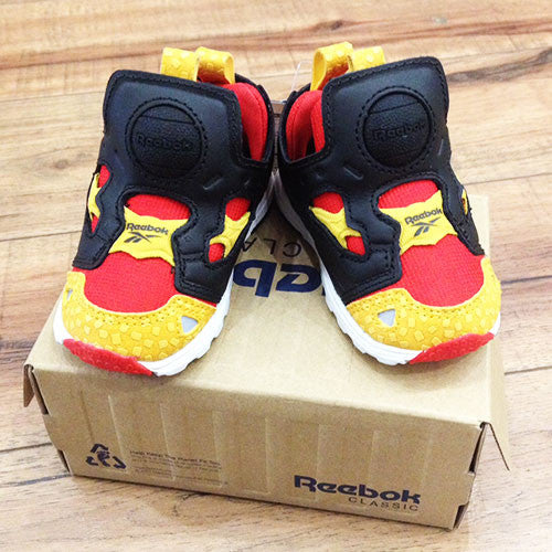 Reebok kids' pump (Orange, Yellow & Black)