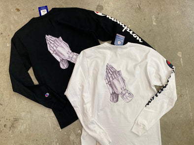 """NO OTHER GODS"" / Champion Praying hand Tee"