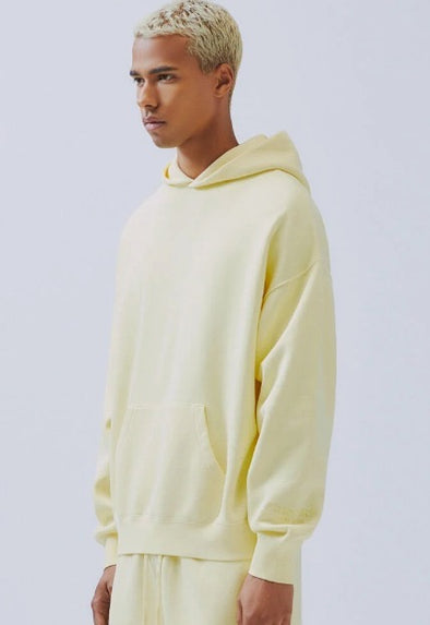 FEAR OF GOD ESSENTIALS Light Yellow Pullover Hoodie