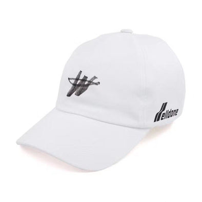 We11done logo-print hat (Black/White)