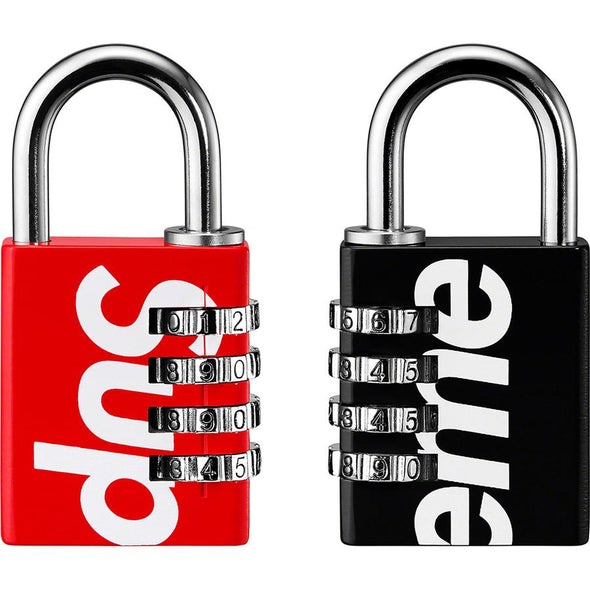 Supreme Master Lock Numeric Combination Lock (Red/Black)