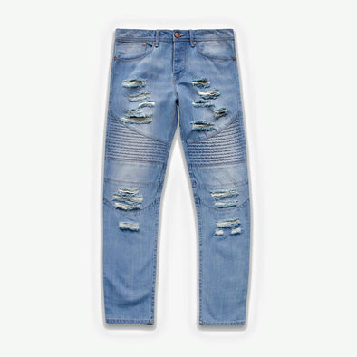 STAMPD Distressed Moto Denim