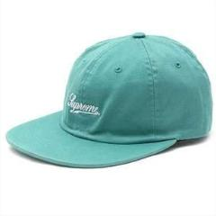 supreme script logo fitted 6-panel