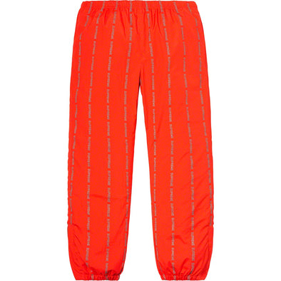 Supreme Reflective Text Track Pants (Orange)
