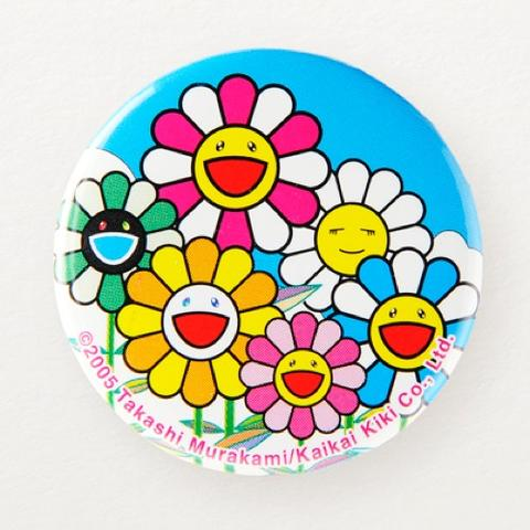 TAKASHI MURAKAMI BADGE, FLOWERS (150 MM)