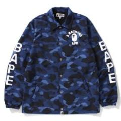 Bape Color Camo Coach Jacket (Blue)
