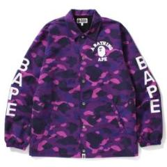 Bape Color Camo Coach Jacket (Purple)