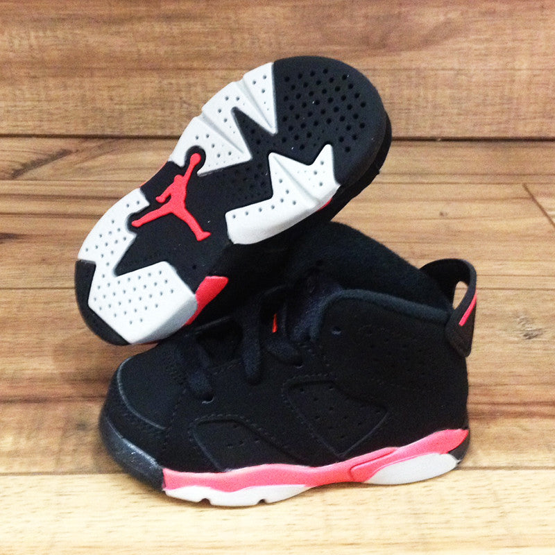 detailed look 9e72f cee2f NIKE AIR BABY JORDAN 6 Retro TD Black Infrared (384667-023) – Superbored  Clothing Ltd.