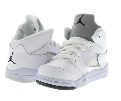 NIKE AIR BABY JORDAN 5 BT (TD) White/Black-Metallic Silver