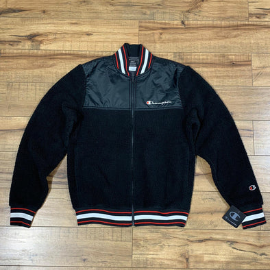Companion - Champion Sherpa Baseball Jacket (Black)