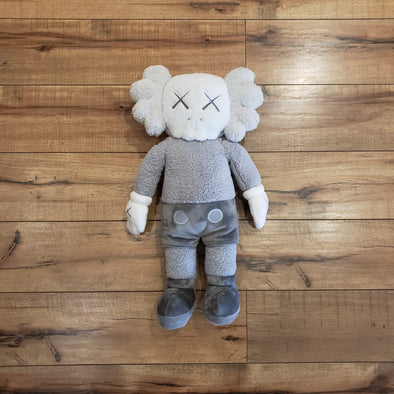 "KAWS HOLIDAY Hong Kong Limited 20"" Plush Grey"
