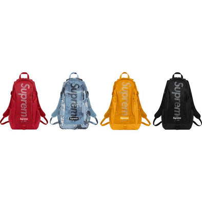 Supreme SS20 Backpack (Black/Red/Blue/Yellow)