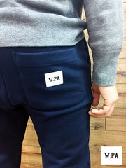 W.PA premium simple sweatpants ( navy )