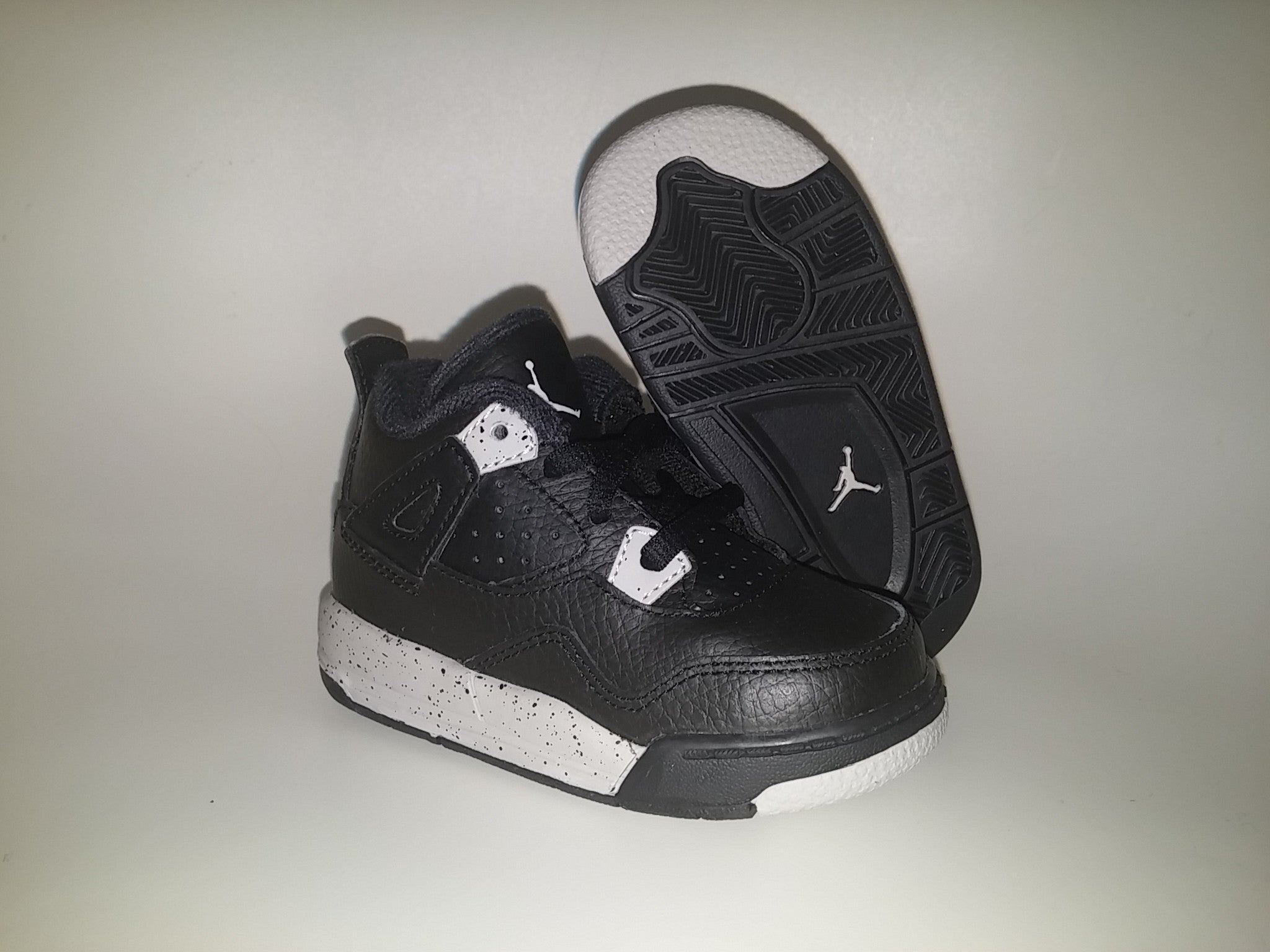 8abad1392fb044 NIKE AIR BABY JORDAN 4 RETRO BT TD OREO 707432-003 toddler – Superbored  Clothing Ltd.