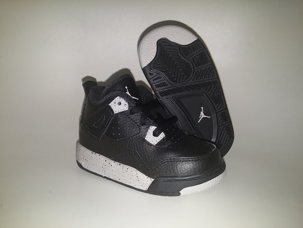 NIKE AIR BABY JORDAN 4 RETRO BT TD OREO 707432-003 toddler