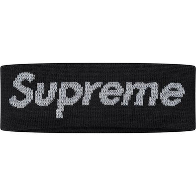 Supreme New Era Reflective Logo Headband (Black)