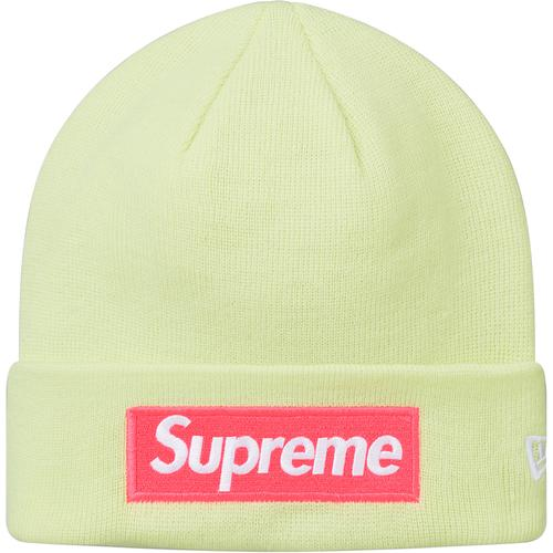 Supreme Box Logo New Era Beanie FW17(Lime)
