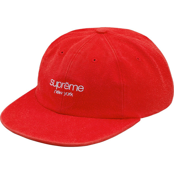 Supreme Napped Canvas Classic Logo 6-Panel (Red)