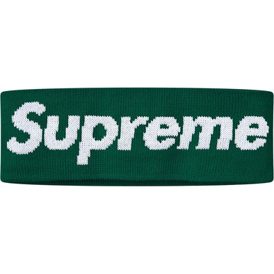 Supreme New Era Big Logo Headband (FW18) Green