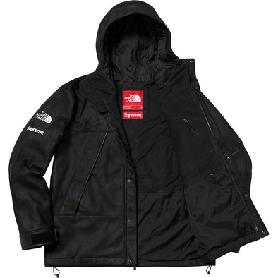 Supreme x The North Face Leather Mountain Parka (Black)