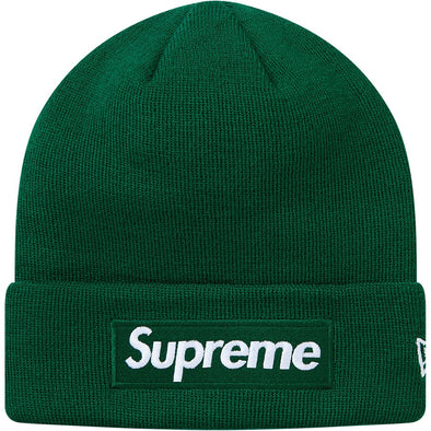 Supreme Box Logo New Era Beanie FW18 (Green)