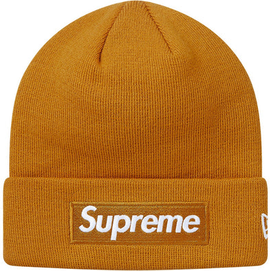 4b467931816 Supreme Box Logo New Era Beanie FW18 (Mustard)