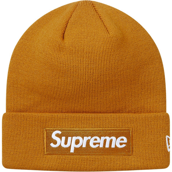 Supreme Box Logo New Era Beanie FW18 (Mustard)