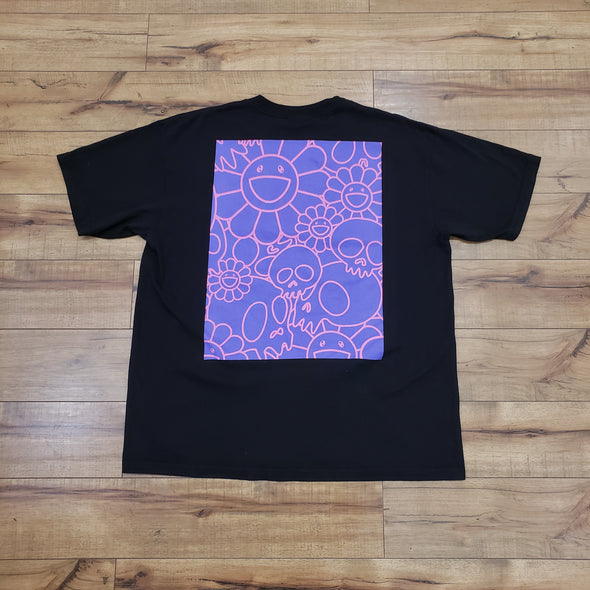 Takashi Murakami Complexcon Skull and Flower Pattern Tee (Black)