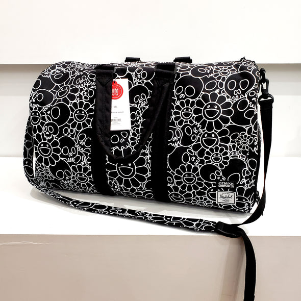 Takashi Murakami Herschel Skull and Flower Duffle Bag (Black)