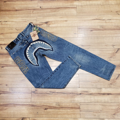 BAPE Shark Denim Pants (Light Indigo)