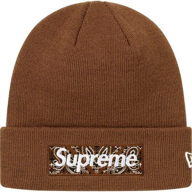 Supreme x New Era Bandana Box Logo Beanie (Brown)