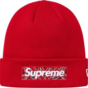 Supreme x New Era Bandana Box Logo Beanie (Red)