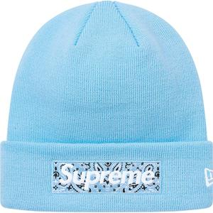 Supreme x New Era Bandana Box Logo Beanie (Blue)